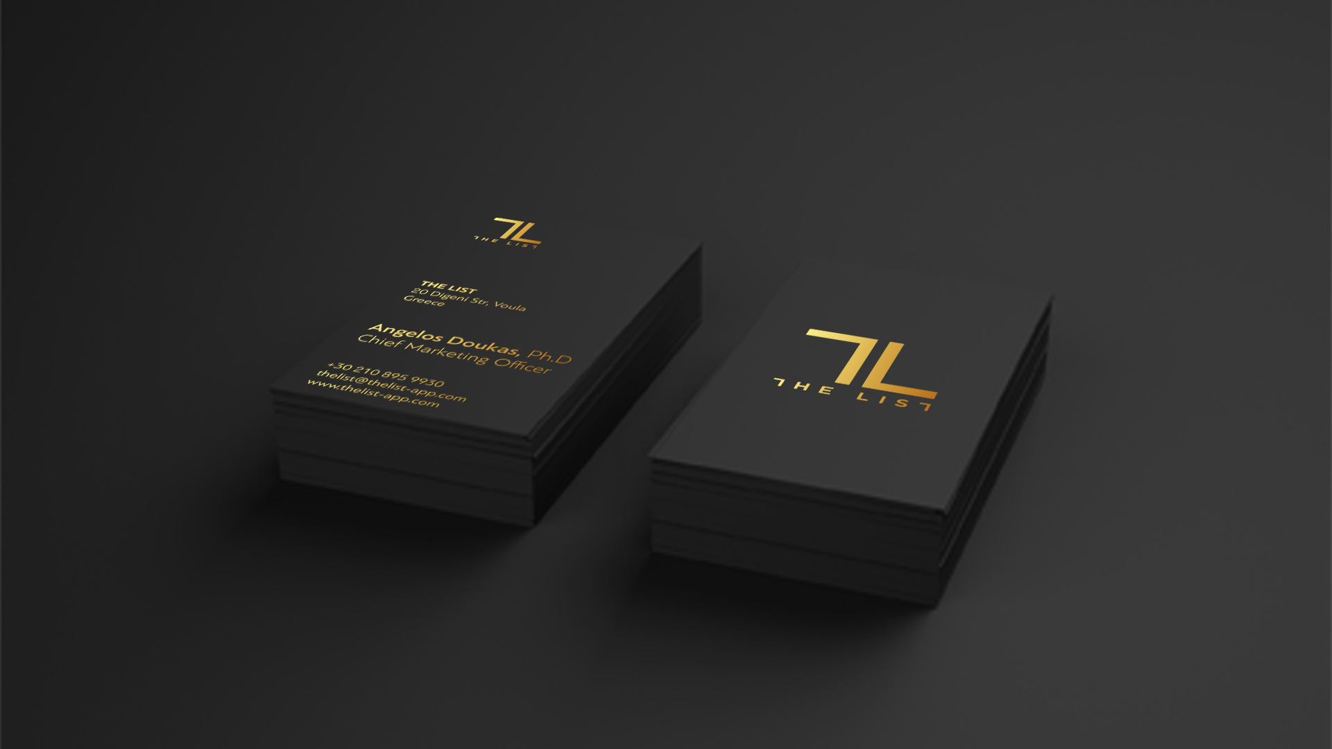 the list business cards